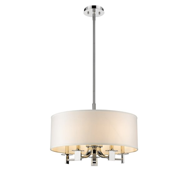 Acclaim Lighting Andrea Pendant Light with Fabric Drum - 5-Light - 19-in