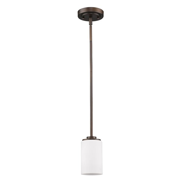 Acclaim Lighting Addison Mini Pendant Light with Glass Shade - 1-Light - Oil Rubbed Bronze - 5-in