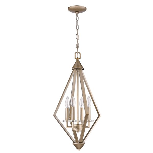 Acclaim Lighting Easton Diamond Shaped  Chandelier with Crystal - 4-Light - Gold