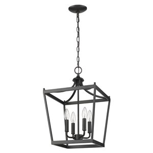 Acclaim Lighting Kennedy Chandelier - 4-Light - Matte Black