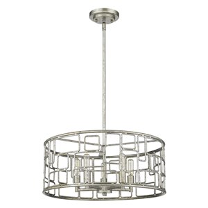 Acclaim Lighting Amoret Convertible Pendant Light - 5-Light - Antique Silver - 20-in