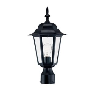 Acclaim Lighting Camelot 1-Light Post-Mounted Lantern Head in Matte Black