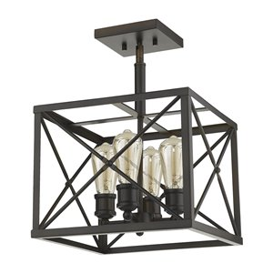 Acclaim Lighting Brooklyn Convertible Pendant Light - 4-Light - Oil-Rubbed Bronze