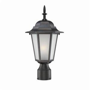 Lanterne de poteau extérieur Camelot de Acclaim Lighting à 1 ampoule, noir et verre givré