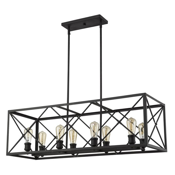 Luminaire suspendu Brooklyn de Acclaim Lighting, 8 ampoules, bronze