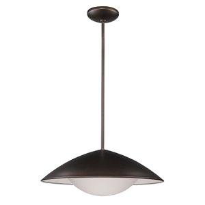 Acclaim Lighting Aurora LED Pendant Light 16-Watt with Metal Shade in Oil-Rubbed Bronze