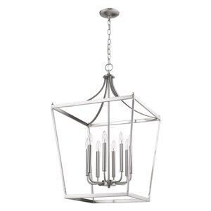 Acclaim Lighting Kennedy Chandelier - 8-Light - Satin Nickel