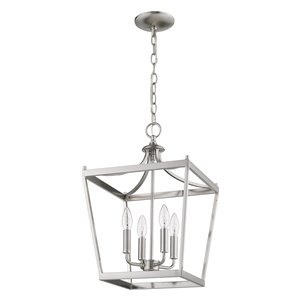 Acclaim Lighting Kennedy Chandelier - 4-Light - Satin Nickel