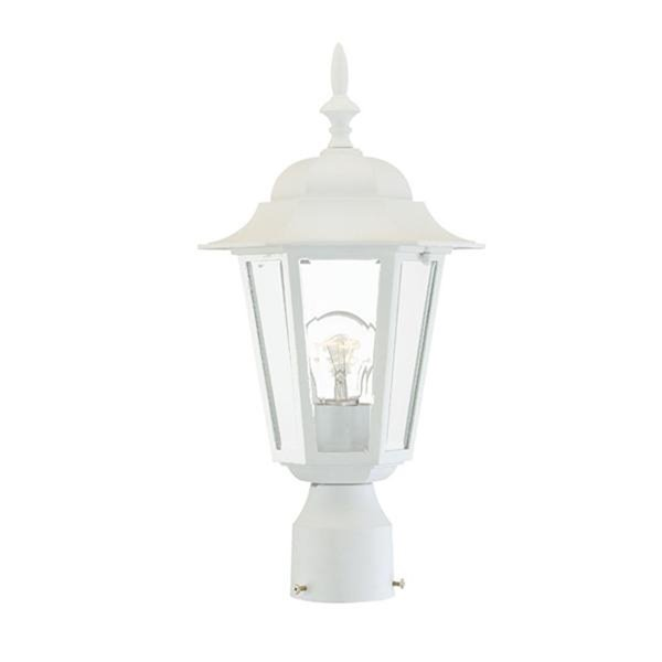 Acclaim Lighting Camelot Collection Post-Mount 1-Light Outdoor - Textured White Fixture
