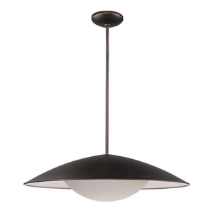 Acclaim Lighting Aurora LED Pendant Light with Metal Shade in Oil-Rubbed Bronze - 24-Watt