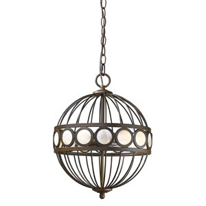 Acclaim Lighting Aria Chandelier - 3-Light Globe - Oil-Rubbed Bronze