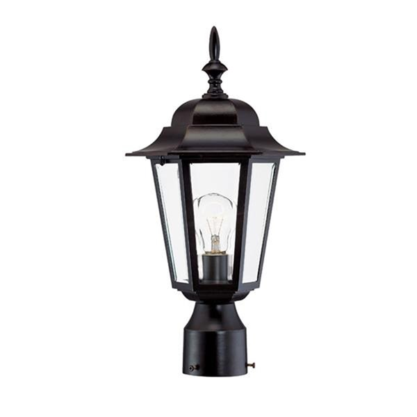 Acclaim Lighting Camelot Collection Post-Mount 1-Light Outdoor Architectural Bronze Light Fixture
