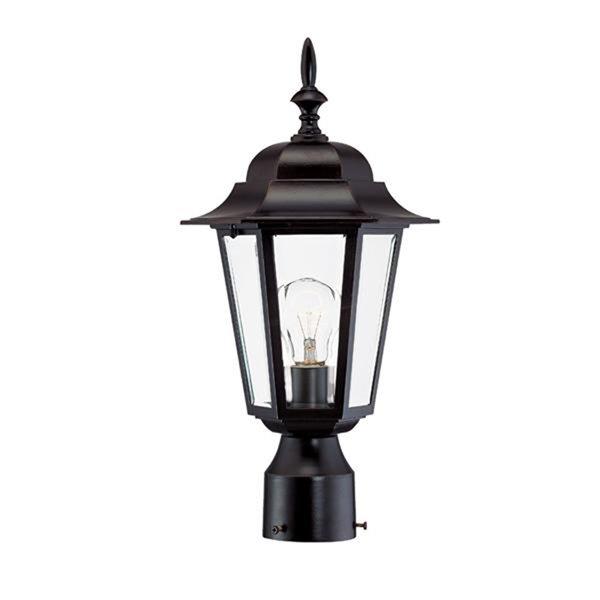 Lanterne de poteau extérieur Camelot de Acclaim Lighting à 1 ampoule, bronze
