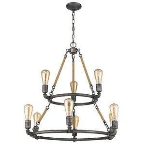 Acclaim Lighting Grayson Chandelier - 9-Light - Antique Gray