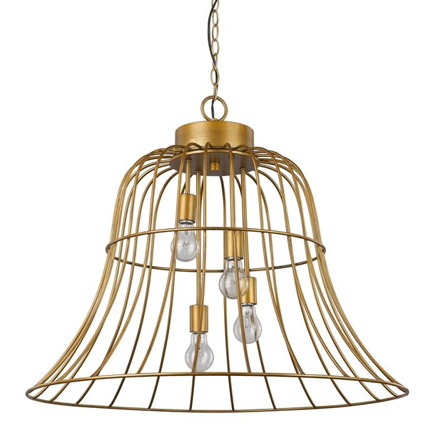 Acclaim Lighting Caroline Bell-Shaped Metal Frame Pendant - 4-Light