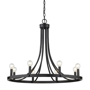 Acclaim Lighting Sawyer Chandelier - 8-Light - Matte Black