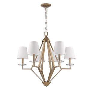 Acclaim Lighting Easton Diamond Shaped  Chandelier with Crystal - 6-Light - Gold