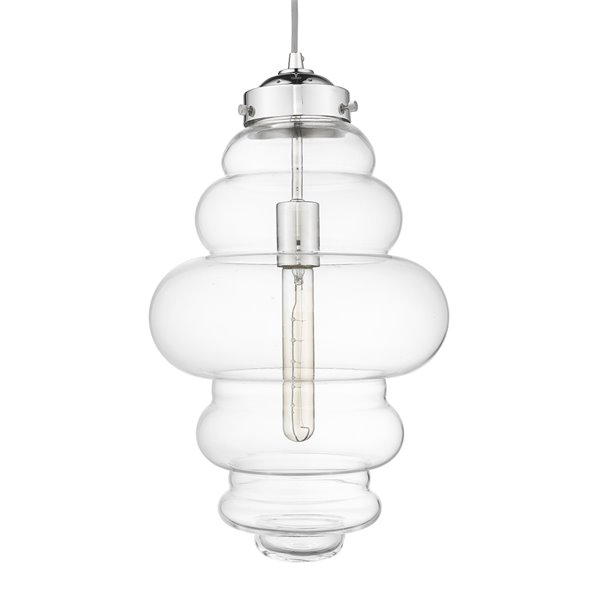Luminaire Suspendu Ballina de Acclaim Lighting, 1 lumière, nickel poli, 10.5 po