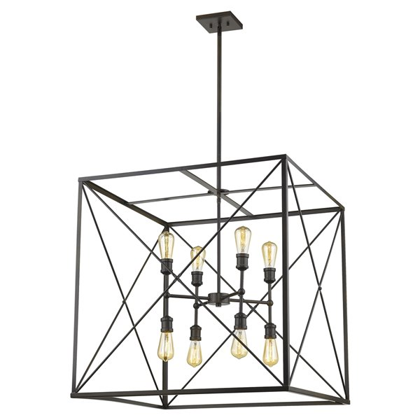 Acclaim Lighting Brooklyn Chandelier - 8-Light - Oil-Rubbed Bronze