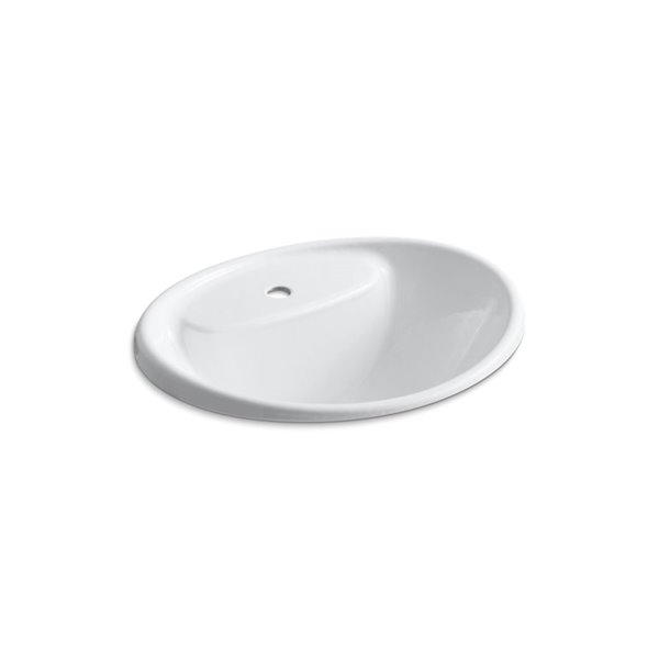 KOHLER Tides Drop-In Sink with Single Faucet Hole - White