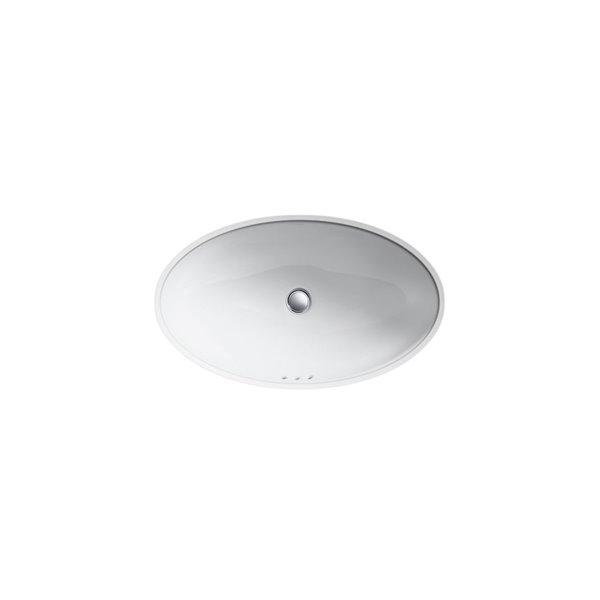 KOHLER Vintage Under-Mount Bathroom Sink -  14-in - White