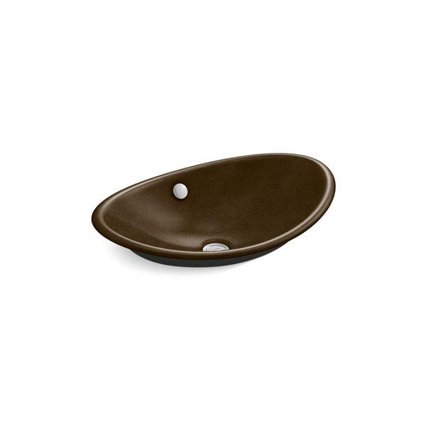 Lavabo KOHLER avec surface inférieure peinte noir, Iron Plains Wading Pool, brun