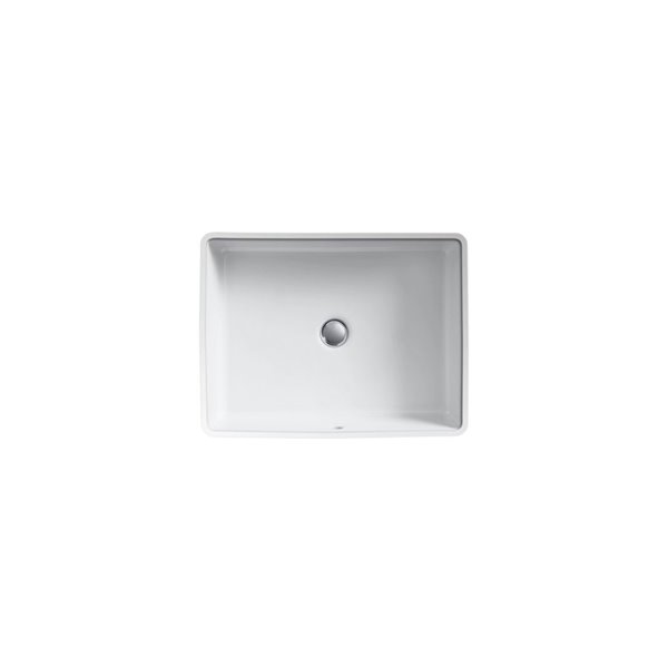 KOHLER Verticyl Rectangular Under-Mount Bathroom Sink - Grey