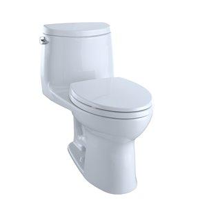 Toilette à cuvette allongée UltraMax de TOTO, hauteur ergonomique, blanc coton