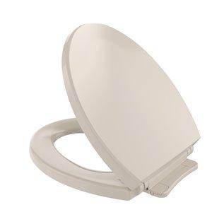 Siège et couvercle de toilette rond à fermeture en douceur de TOTO, beige