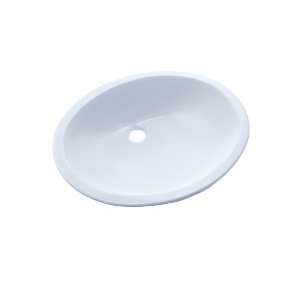 Lavabo de salle de bains ovale de TOTO, 19,25 po, blanc