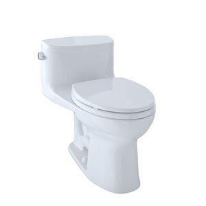 Toilette à cuvette allongée Supreme II de TOTO, hauteur ergonomique, blanc coton
