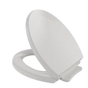 Siège et couvercle de toilette rond à fermeture en douceur de TOTO, blanc colonial
