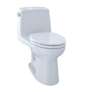 Toilette à cuvette allongée monopièce Eco UltraMax de TOTO, hauteur standard, blanc