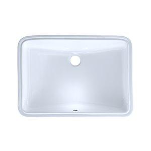 Lavabo de salle de bains rectangulaire encastrable de TOTO, 23,25 po, blanc