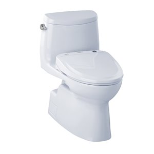 TOTO Carlyle II 1-Piece Elongated Toilet - Comfort Height -  Cotton White
