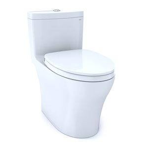 Toilette à cuvette allongée Aquia IV de TOTO, hauteur ergonomique, blanc coton