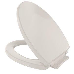 Siège et couvercle de toilette ovale à fermeture en douceur de TOTO, beige sedona