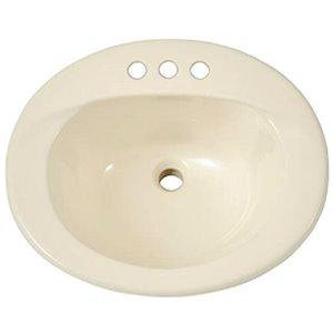 Lavabo de salle de bains ovale monotrou de TOTO, 20 po, beige