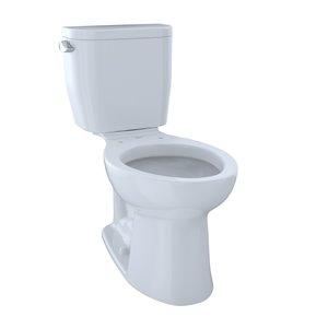Toilette à cuvette allongée Entrada de TOTO, hauteur ergonomique, blanc coton