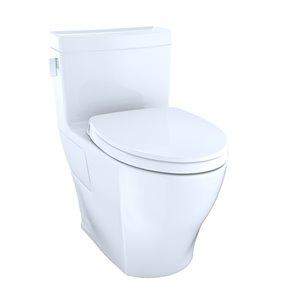 Toilette à cuvette allongée Legato de TOTO, hauteur ergonomique, blanc coton