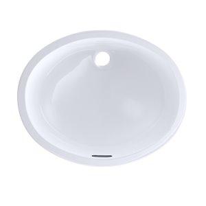 Lavabo de salle de bains ovale de TOTO, 21,25 po, blanc