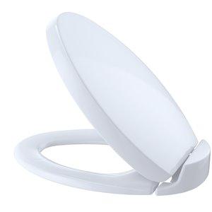 Siège et couvercle de toilette ovale à fermeture en douceur de TOTO, coton blanc