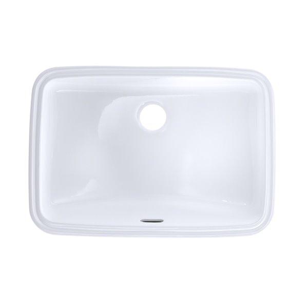 Toto Rectangular Undermount Bathroom Sink 20 88 In Cotton White 1061430 Rona