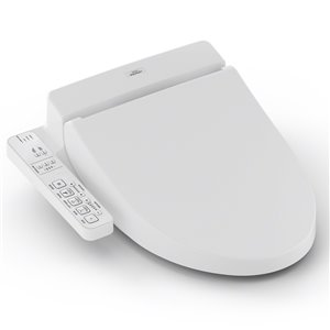 TOTO Washlet C100 Electronic Bidet Toilet Seat - Elongated - Cotton White