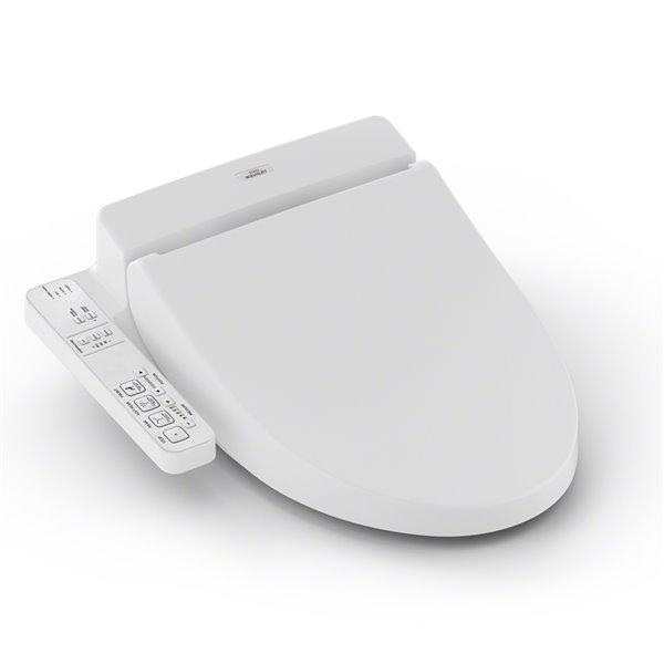 TOTO Washlet A100 Electronic Bidet Toilet Seat - Elongated - Cotton White