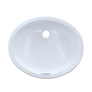 Lavabo de salle de bains ovale de TOTO encastrable, 19,25 po, blanc