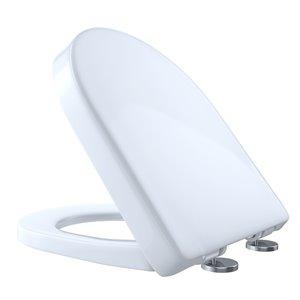 Siège de toilette ovale à fermeture en douceur de TOTO, coton blanc