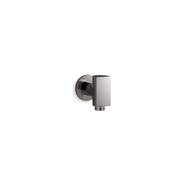 KOHLER Exhale Wall-Mount Supply Elbow with Check Valve - Satin Steel