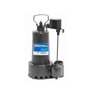 nForcer Submersible Sump Pump - 1/3 HP - Cast Iron
