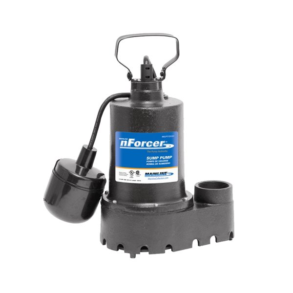 Pompe de puisard submersible en fonte de nForce, 1/3 HP